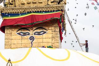 Image of Stupa. kathmandu nepal np