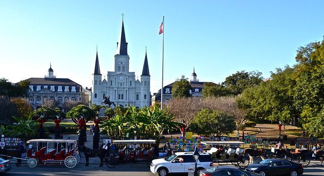 jackson square - horse carriages
