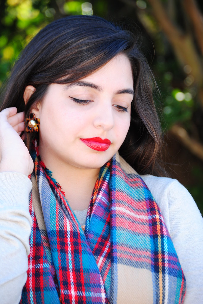 Benevolent Jewels earrings, Target oversize multicolor blanket scarf