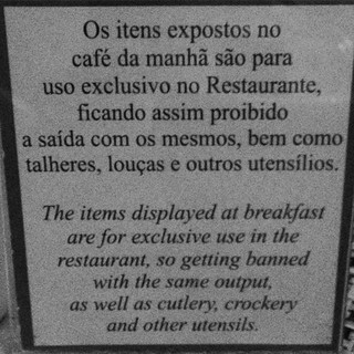 I think this is a Google translate fail at our Rio hotel. #latergram