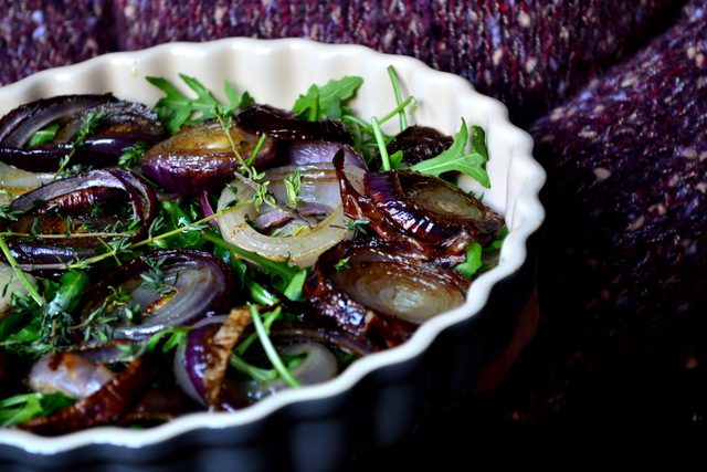 Making Roasted Onion Salad