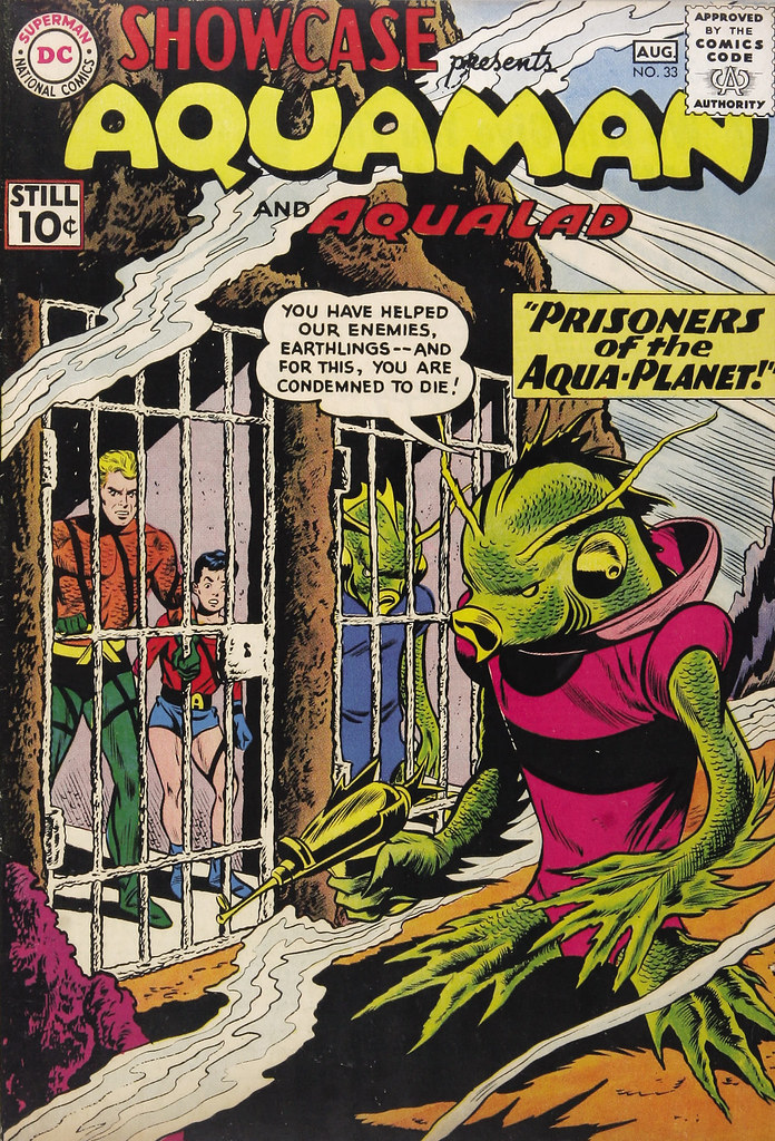 Showcase #33 Aquaman and Aqualad (DC, 1961) Ramona Fradon Cover