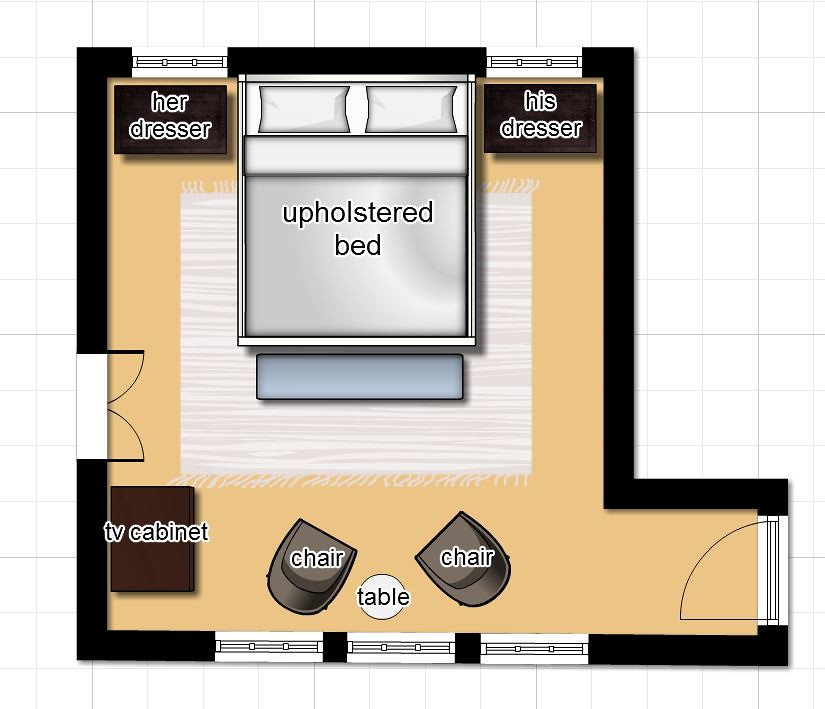 Hi Sugarplum | Master Bedroom Floorplan