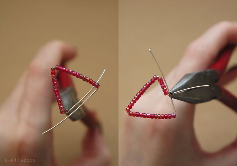 DIY Christmas Bunting Necklace | e-elise etc