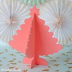 Coral wooden Christmas trees