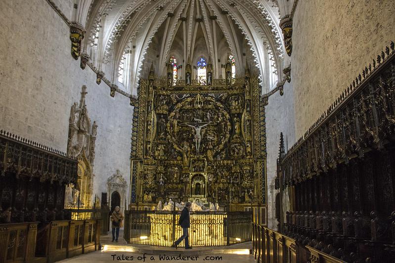 BURGOS - Cartuja de Miraflores - Retablo mayor / Sepulcro de Juan II de Castilla e Isabel de Portugal / Sepulcro de Alfonso de Castilla