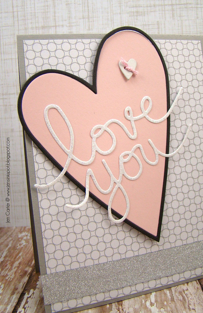 Jen Carter Country Heart Love You Card Closeup