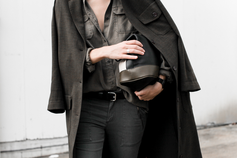 MODERN LEGACY fashion blog street style Westfield Witchery khaki trend military coat jacket trio clutch details (1 of 1)