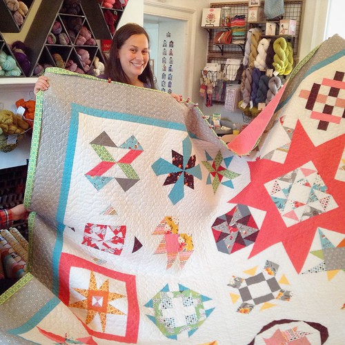 Dana and her quilt