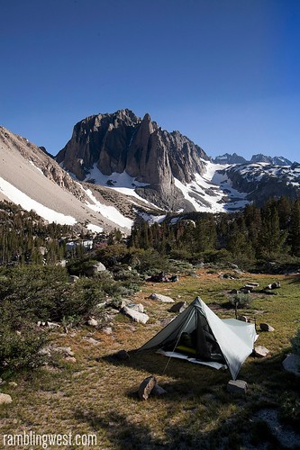Making Camp, big pine lakes