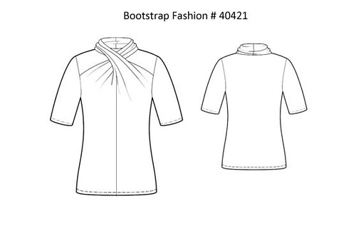 Bootstrap diagram twist front tee