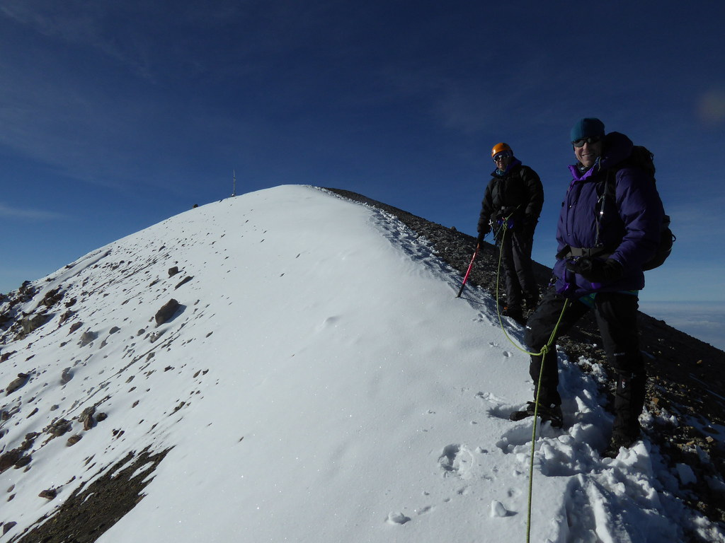 Approaching the summit of Pico de Orizaba