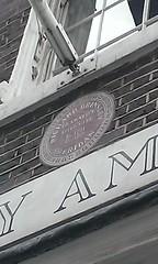 Photo of Richard Brinsley Sheridan brown plaque