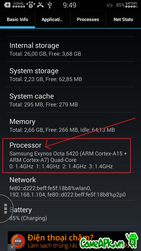 Hướng dẫn cách xem GPU trên điện thoại Android