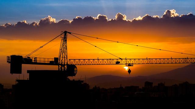 Sunset on the rising city: Addis Ababa