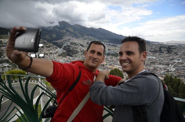 Selfie de Sele y Chavetas en Quito