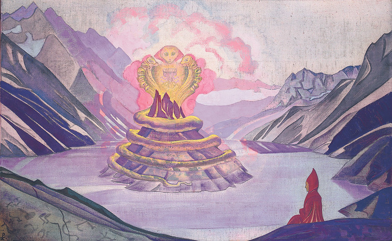 Nicholas Roerich - Nagarjuna, Conqueror of the Serpent, 1925