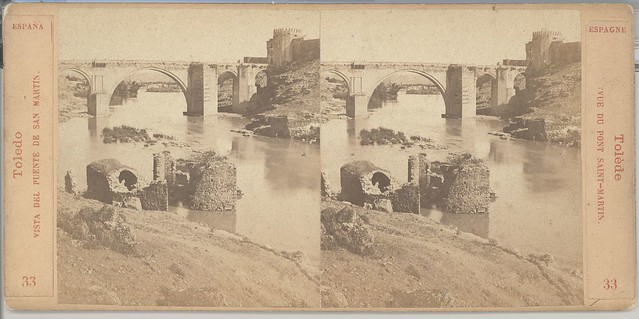 Puente de San Martín en 1863 por Ernest Lamy
