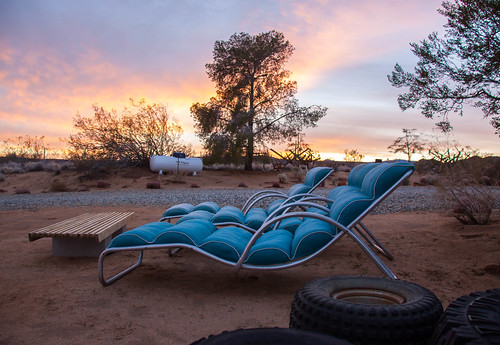 Blue Lounge Chairs - Yucca Valley, CA