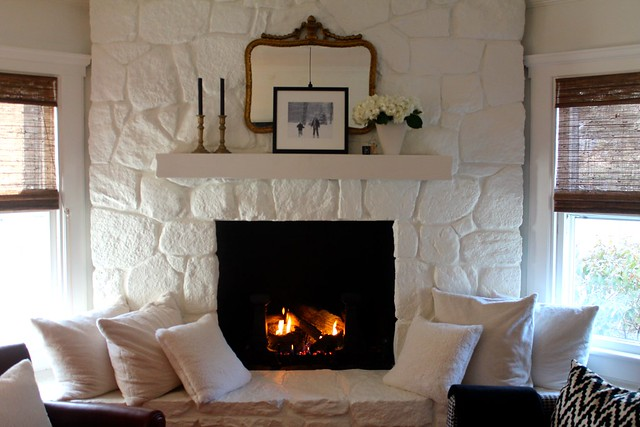 Painted Stone Fireplace | Most Lovely Things