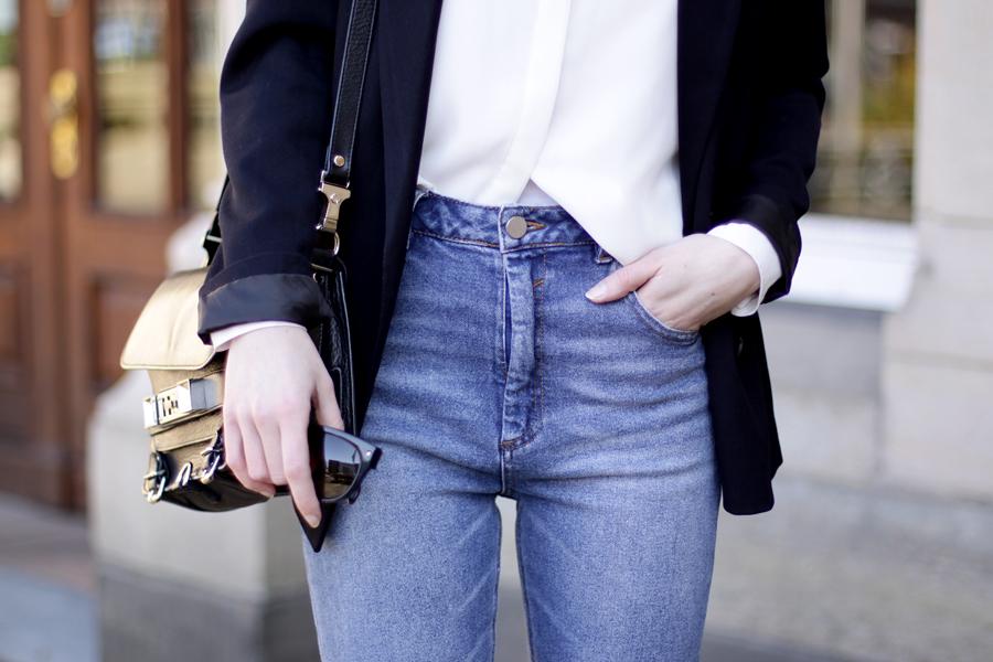 fashion fashionblogger outfit jeans blazer simple business look asos zara topshop proenza schouler brunette bangs ricarda schernus blog blogger germany 7