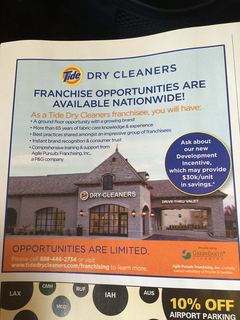 Tide Dry Cleaners Franchise Opportunities Available