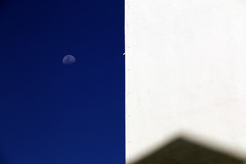 Moon with White Wall and Shadow, Singapore