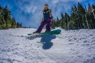 Spring snowboarding at Sunday River. (Facebook/Sunday River)