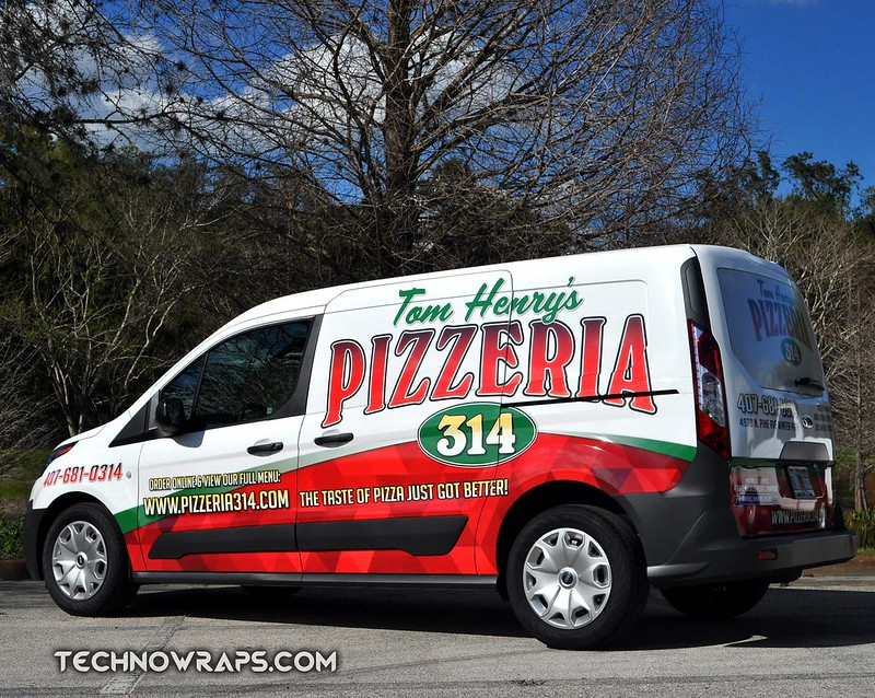 Florida Ford Transit Connect Vehicle Wrap By TechnoSigns In Orlando