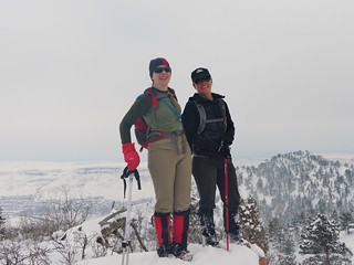 Clare and Jane on Mt. Galbraith