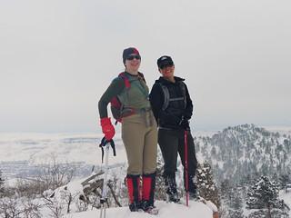 Clare and Jane on Mt. Galbraith