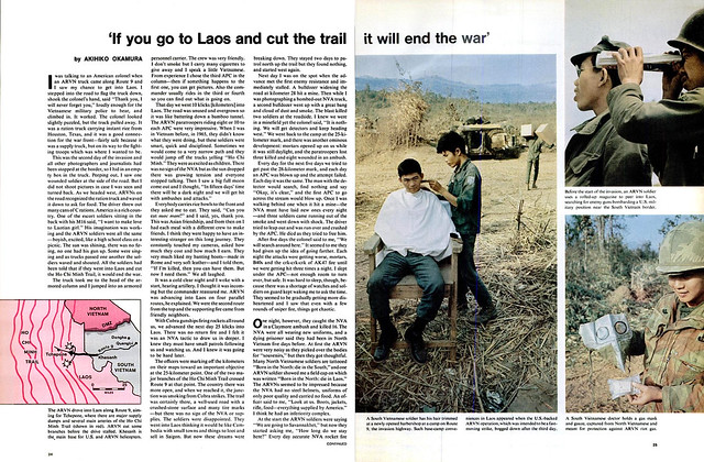 LIFE magazine, 12 Mar 1971 - THE WAR IN LAOS (3) - 'If you go to Laos and cut the trail it will end the war' - by AKIHITO OKAMURA