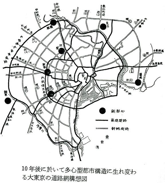 第三京浜と首都高速道路3号線が直結している路線図