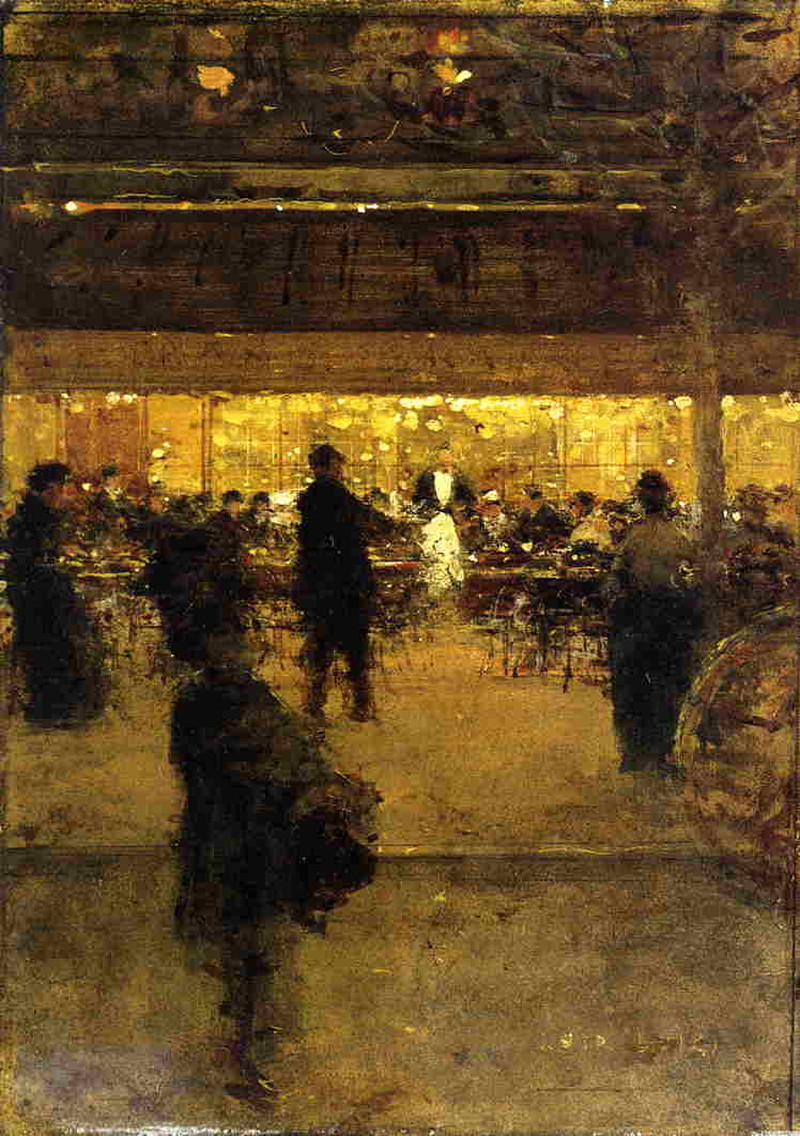 The Night Cafe by Luigi Loir