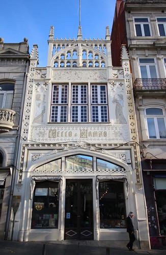 ポルトの世界遺産の書店