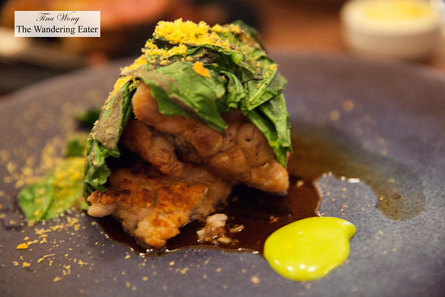 Sweetbread, spinach, bottarga