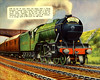 "Trians Page 8 LNER 4-6-2 Pacific ""Papyrus"" Hauling Flying Scotsman"