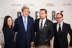 "U.S. Secretary of State John Kerry attends the screening of 'Before the Flood"" at the UN Headquarters in New York City on October 20, 2016. [State Department photo/ Public Domain]"