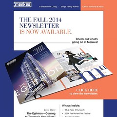 Our Fall 2014 Newsletter is now available online at menkes.com! #LifeStoreys