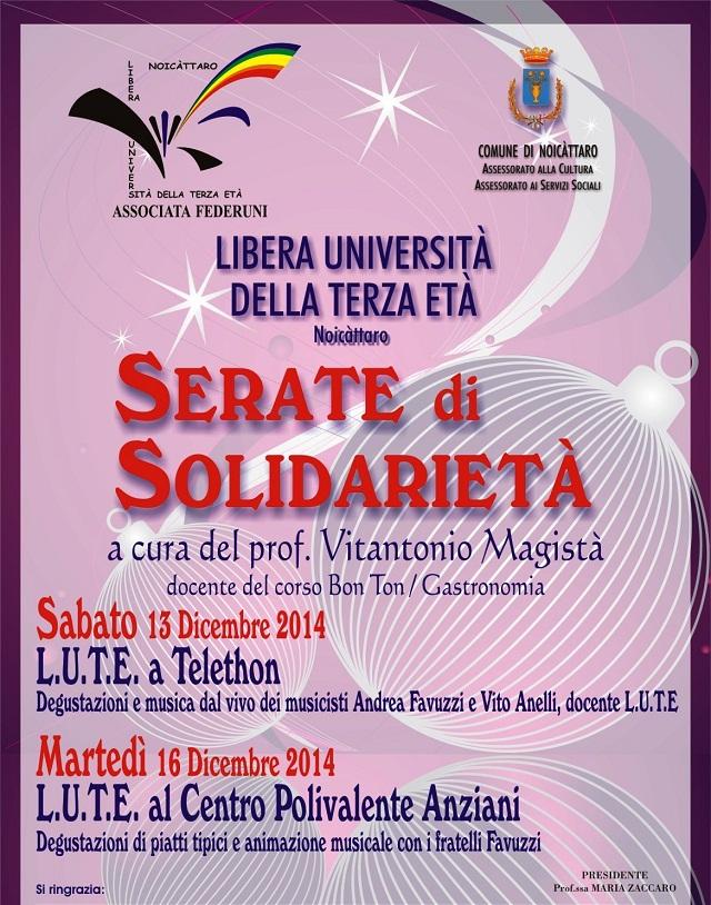Noicattaro. Serate Solidarietà Lute intero