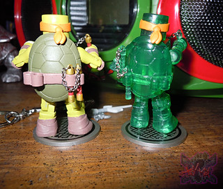 Nickelodeon  TEENAGE MUTANT NINJA TURTLES ; MINIMATES :: MUTAGEN MICHELANGELO xiii / ..with Basic M.M. Michelangelo '14 (( 2014 ))