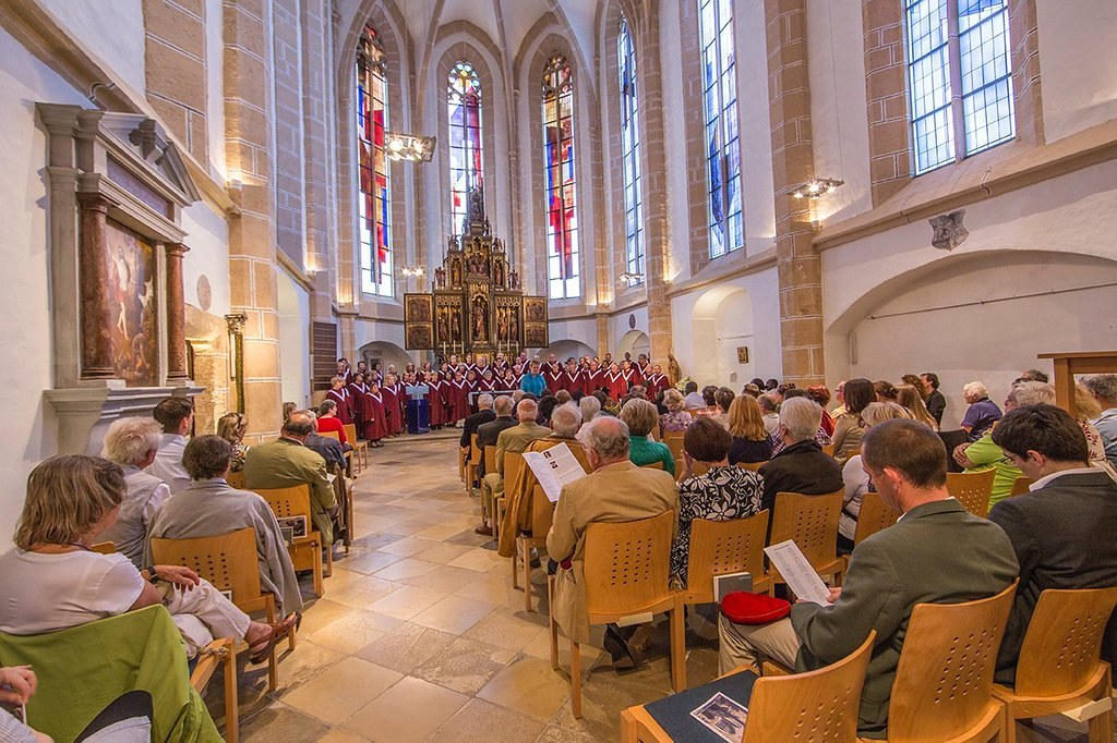 Highland Park United Methodist Church Chancel Choir performs in the Spitalskirche in Perchtoldsdorf, Austria