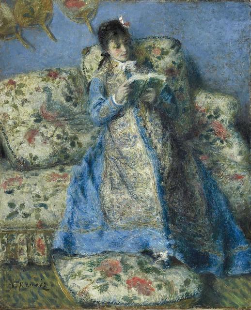 1872 Renoir Camille Monet reading(Sterling and Francine Clark Art Institute)