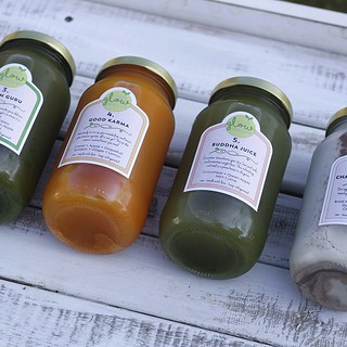 Close up of the juices from Pure Glow Cleanse