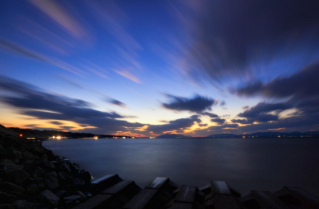 日の入り 松江
