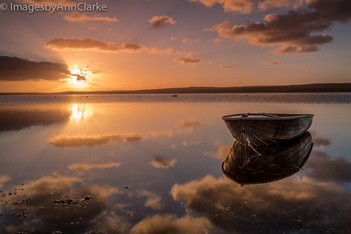 ocean clouds sunrise reflections boat australia southaustralia dinghy eyrepeninsula tulka summer2014
