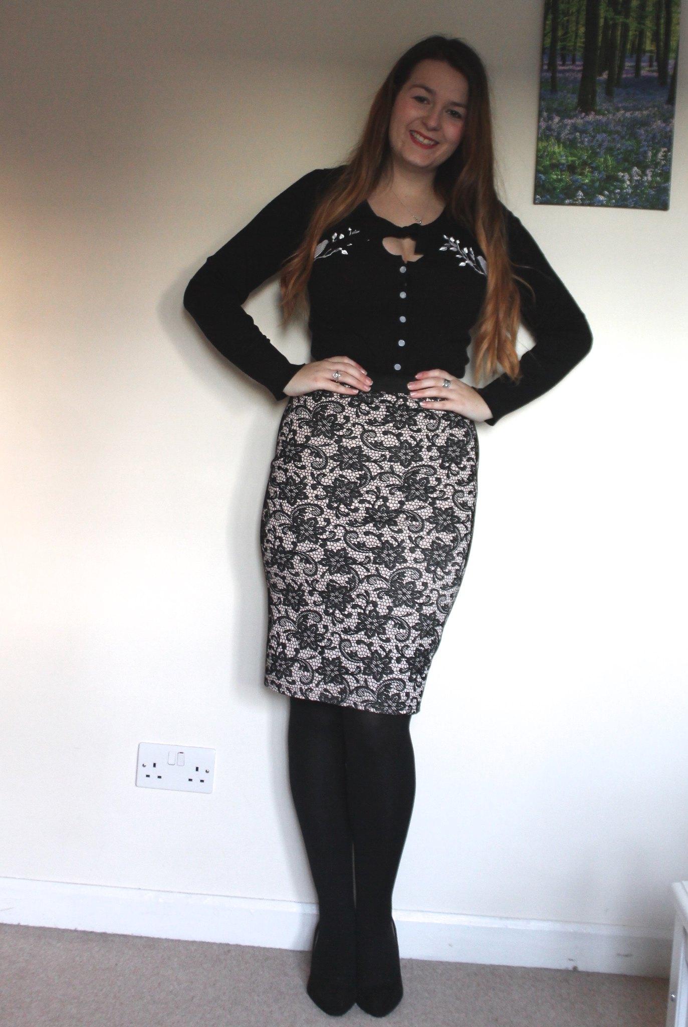 Pencil skirt & cardigan