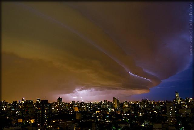 Tormenta sobre Buenos Aires
