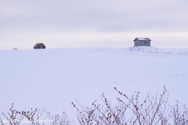 二つの小屋の丘1