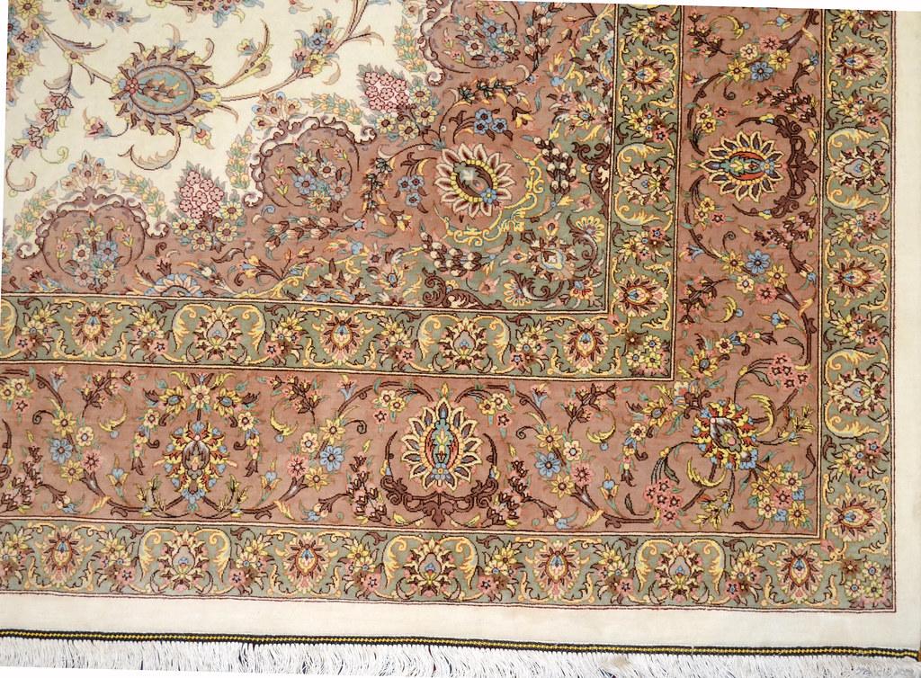 Qum Pure Silk 7x10 Persian Rug (15)